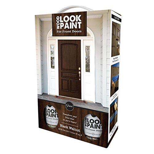 Giani Wood Look Paint Kit for Front & Interior Doors (Black Walnut)