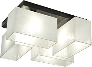 Plafoniera, illuminazione a soffitto JLS41WED in legno massiccio illuminazione per salotto, per cucina, per sala da pranzo, per soggiorno