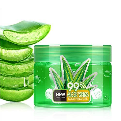 150ML Gel Aloe vera puro 9 de Crema Hidratante Natural para la Piel irritada por el Depilado y Afeitado/Quemaduras Solares y Picadura de Insectos. Uso Facial y Corporal