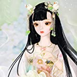 Dream Fairy Joint Girl BJD Doll 24.4 Inch Doll with Full Set Clothes Shoes Peluca Maquillaje niñas