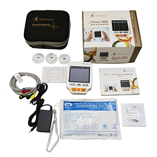 Heal Force Prince 180D Farbbildschirm 3-Kanal-EKG-Handheld-Monitor - Continuous Mode Deluxe Set