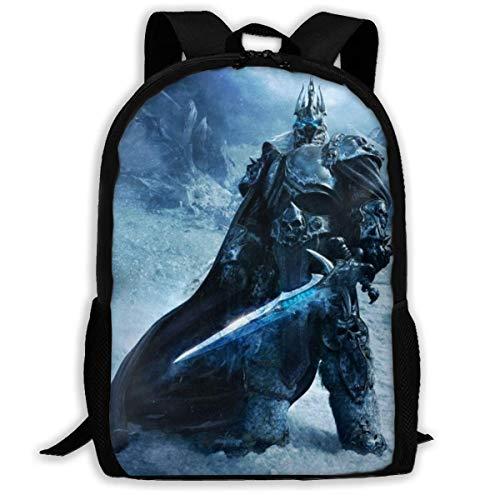 World Arthas Menethil Adult Travel Bapa Fits 15.6 Inch Laptop Bapas School College Bag Casual Rusa for Men & Women