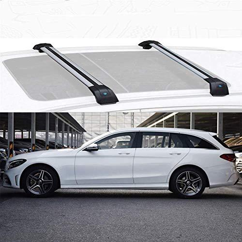 SFSGH Portaequipajes para Techo de Coche, Compatible con Mercedes Benz Clase C Estate, portaequipajes de aleación de Aluminio, Barra Transversal, Soporte para Barras de Carga, Compatible