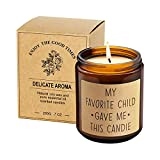 Aromaflare Funny Scented Candle Best Mom Dad Gifts Gag Father's Day Present Idea from Daughter Son Kids Novelty Birthday Gift for Parents Aromatherapy Candles for Men Women