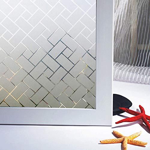 Zindoo Vinilos para Cristales Vinilo Ventana Vinilo Translucido Vinilos Decorativos Cristales Laminas para Ventanas Proteger la Privacidad del Bano 44.5 X 200 cm