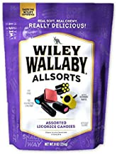 Wiley Wallaby Australian Style Gourmet Licorice, Allsorts, 8 Ounce Resealable Bag