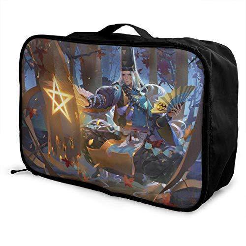 Onmyoji Travel Lage Duffel Bag for Women Men Kids, Waterproof Large Bapa Caity Lightweight Suitcase Portable Bags