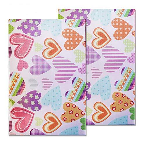 Starplast, Papel Goma Eva Decorado, 2 Hojas, 20 cm x 30 cm, A4, para Decorar, Diseñar y Manualidades, Estampado Corazones