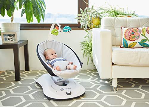 4moms rockaRoo, Hamaca Compacta para Bébés con Movimiento Deslizante de Delante a Atrás