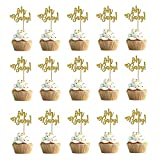 30 Piezas Oh Baby Cake Toppers, Oh Baby Cake Topper Baby, Glitter Cake Topper Baby Shower, para Bodas, Cumpleaños, Baby Shower, Decoraciones para Fiestas Infantiles