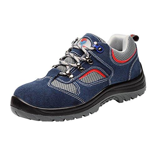 Gazechimp Bottes De Travail - Chaussures D'extérieur en Acier pour Hommes De La Construction, Chaussures De Sécurité - Imperméables Et Respirantes, 4 Tailles - UE 44 États-Unis 10.5 Royaume-Uni 9.5