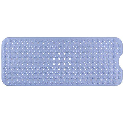 zfq Extra Lange 100 * 40cm PVC-Badezimmer-Schlitten-badewanne Badewanne Matte Mit Sauermator Real Light Blue