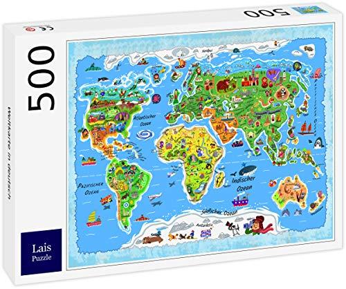Lais Puzzle Weltkarte in deutsch 500 Teile
