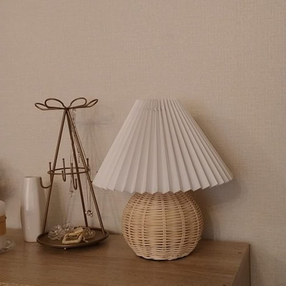 MBVBN Rattan Table Wicker Lamp Elegant Max 61% OFF Boho