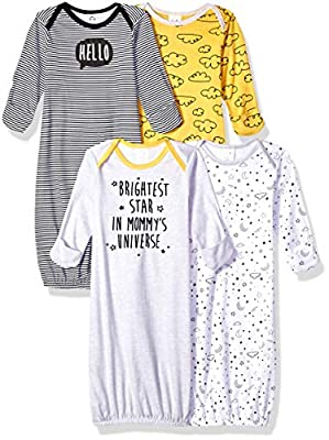 Gerber Baby 4-Pack Gown, star, 0-6 Months from GERLO