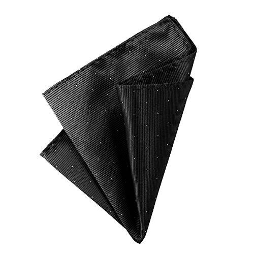 DonDon Pañuelos de bolsillo con puntos plateados hombre de 25 x 25 cm para ocasiones especiales