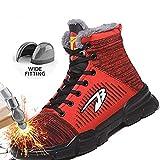 Acreny Scarpe Antinfortunistiche Uomo Donna Stivaletti da Lavoro Sneakers da Lavoro Puntali in Acciaio Stivali Antinfortunistici