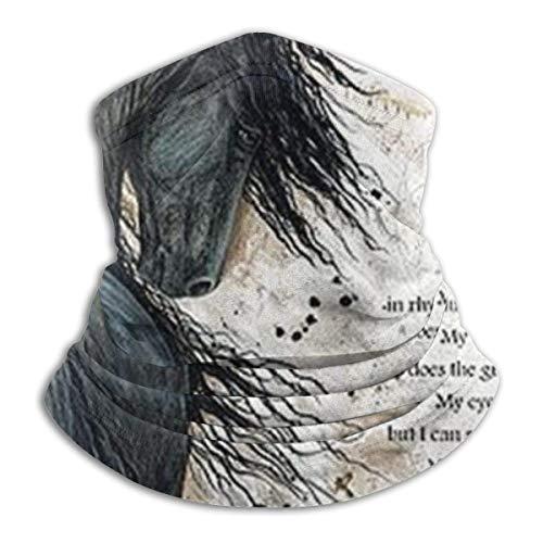Dreamwalker Horse Unisex Fleece Neck Warmer Face Warmer Neck Neck Gaiters