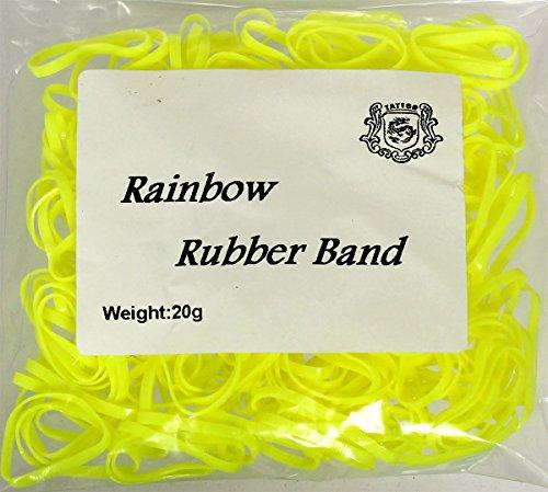 20 g Machine élastiques à Sticker jaune pour machines env. 240 pièces Rainbow Bracelet en Caoutchouc bande de caoutchouc