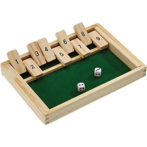 Beluga Spielwaren 10021 - Klappbrett aus Holz, aufregendes und kniffliges Würfelspiel