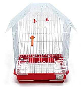 BPS Bird Cage Metal avec Feeder Drinker Swing Jumper Color Bucket Envoyer au Hasard 34,5 x 28 x 46 cm BPS-1152