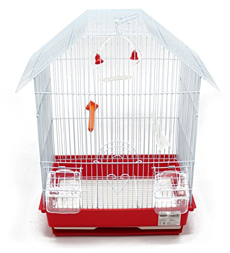 BPS Bird Cage Metal con Feeder Drinker Swing Jumper Color Bucket invia a Caso 34,5 x 28 x 46 cm BPS-1152