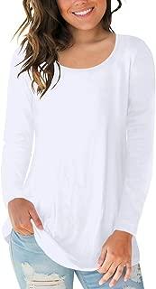 Women's Short Sleeve Scoop Neck T Shirt Casual Tops