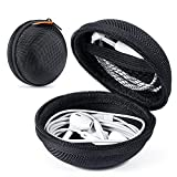 2 Packs GLCON Hard Earphone Case Headphone Organizer - Shockproof Mini Earbud Carrying Case for AirPods - High Protection Small EVA Storage Pouch Bluetooth Earpiece Bag - Lightweight Coin Purse