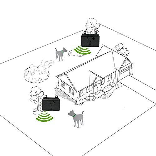 Zelers Sonic Bark Deterrents, Dog Barking Control Devices, Anti Barking Device, Bark Control, Dog Whistle to Stop Barking, Ultrasonic Dog Bark Deterrent, Anti Barking Device (Black)