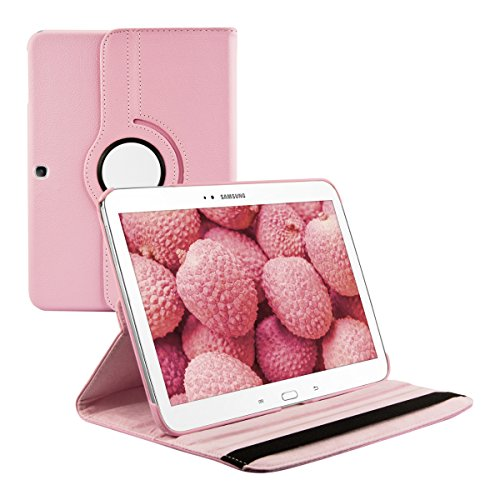 kwmobile Hülle kompatibel mit Samsung Galaxy Tab 3 10.1 P5200/P5210-360° Tablet Schutzhülle Cover Hülle Rosa