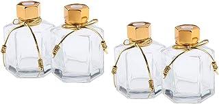 CUTICATE 100ミリリットル 香りディフューザーボトル 香水瓶 ガラスボトル 空 ガラス容器 4個入り