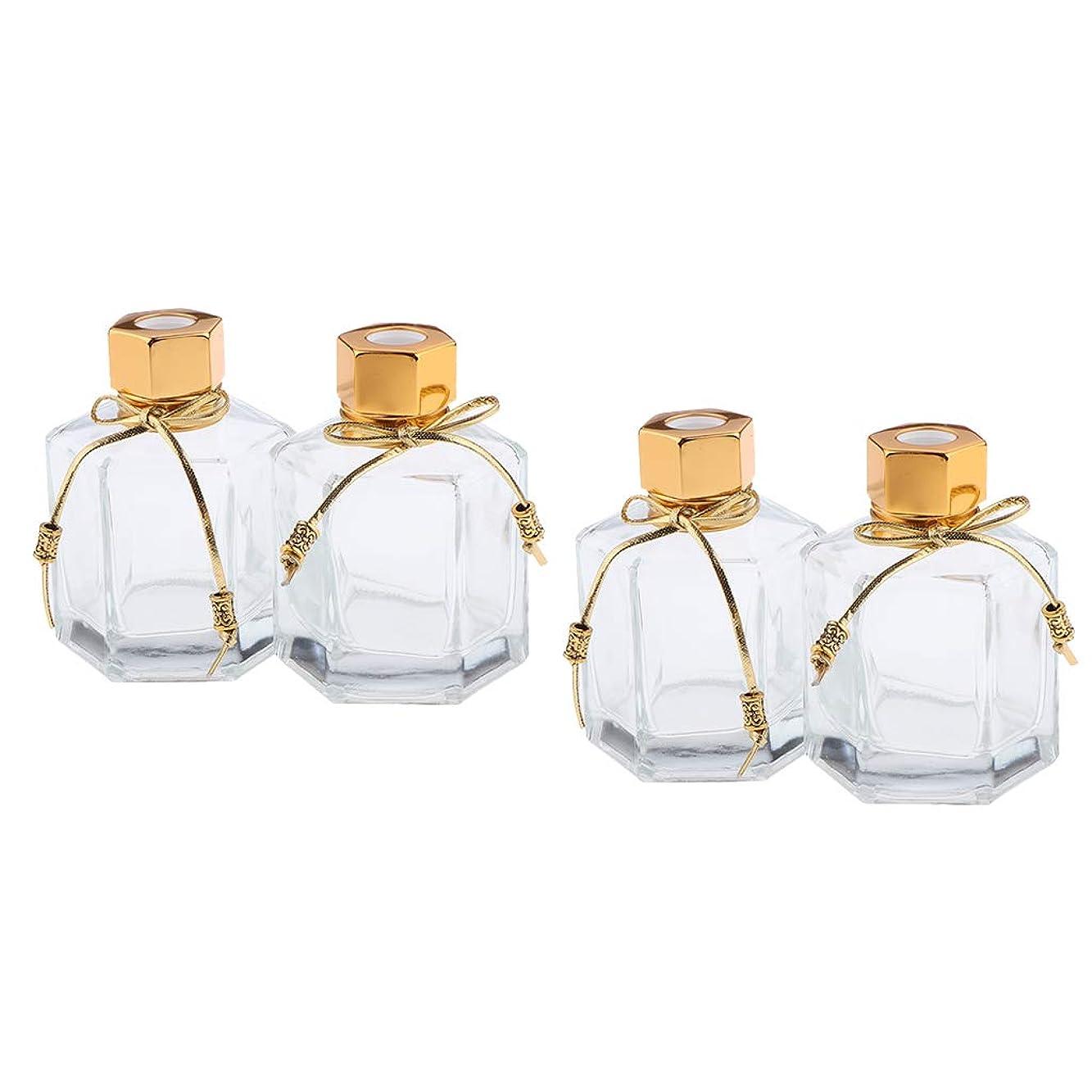 冒険者シャツ推定CUTICATE 100ミリリットル 香りディフューザーボトル 香水瓶 ガラスボトル 空 ガラス容器 4個入り