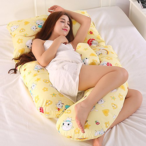 G-Typ Schwanger Kissen, Schlafseite Schlafkissen, Multifunktionale Aufhebung Bauch Schlafen Kissen,H-170 * 110 * 80cm