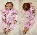 AIBAOLIAN Encantador Muñeca Reborn Bebé 22 Pulgadas 55cm Silicona Suave Vinilo Niña de Ojos Cerrados Muñecas Vida Real Natural Regalos de Cumpleanos Reborn Dolls