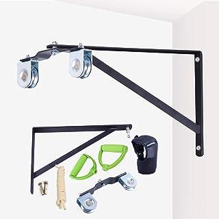 Polea de cuerda montado en la pared,cuerda elástica para rehabilitación de hombro(dos