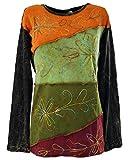 GURU SHOP Goa Langarmshirt Stonewash 4, Schwarz, Baumwolle, Size:M/L (40), Pullover, Longsleeves & Sweatshirts Alternative Bekleidung