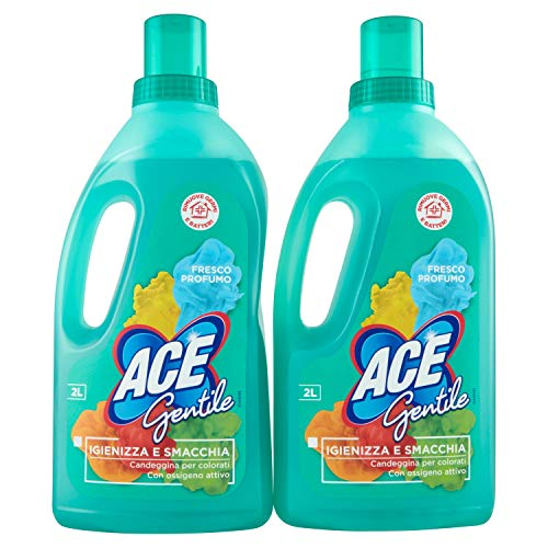 Ace - Gentile, Candeggina per Colorati e Delicati, 2 l - [confezione da 2]