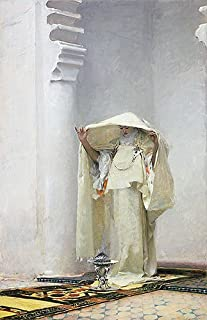 TOPofART John Singer Sargent (Fumee d'Ambre Gris (Smoke of Ambergris), 1880) Canvas Print Reproduction (21.7x13.9 in) (55x35.4 cm)