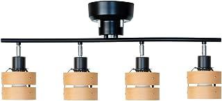 ベルド(BELLED) シーリングライト 4灯 レダ ブラック・ライトナチュラル LED対応 BBS-049(BLN)