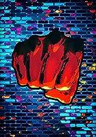 ワンストライクマンパンチアニメアートキャンバス絵画ウォールアート写真リビングルーム家の装飾(フレームなし) (Color : A, Size : 60x90cm(No Frame))