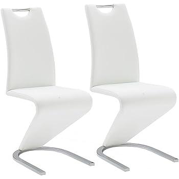 vidaXL Chaise en Simili Cuir Cantilever avec Pieds en Forme