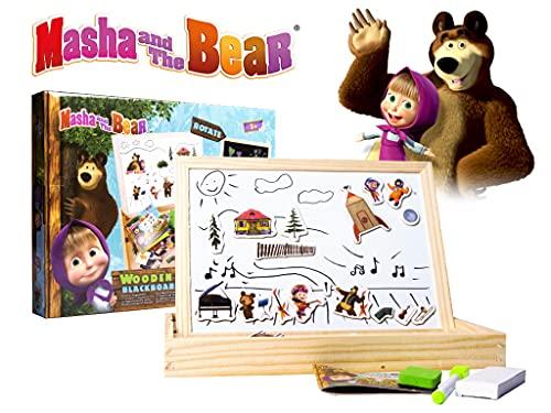 Mascha und der Bär Magnet und Kreide Tafel für Kinder Kinderspiel Holzspielzeug