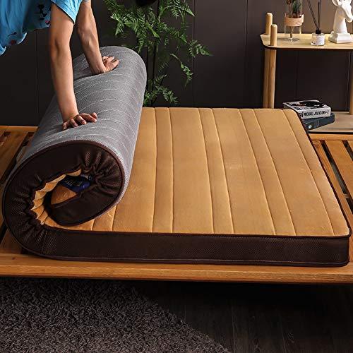 GGYDD Gruesas Acolchado Futón Suelo De Tatami,orgánica 100% Natural Látex Cama Mat Suave Respirable Colchón De Futón-h 180x200x9cm(71x79x4)