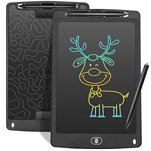 Czemo Tablette d'écriture LCD colorée 10Pouces,Planche à Dessin de Tablette Graphique Doodle Pad Enfants Jouets Cadeaux pour garçons Filles Adultes électronique Memo Board (Noir)