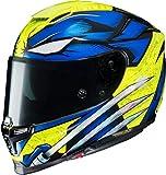 Casco de moto HJC RPHA 70 WOLVERINE X-Men MC3H, Azul/Amarillo, M