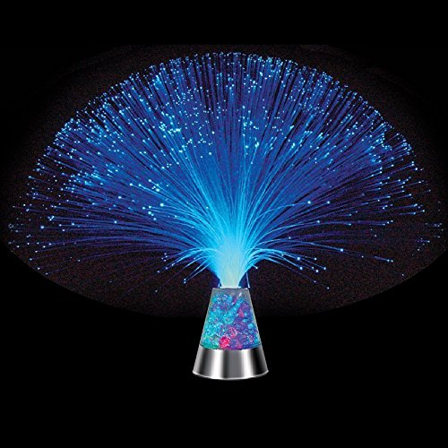 Ice Fiber Optic Mood Novelty Lamps Lighting Glacier Lite with Color-Changing Crystals Base