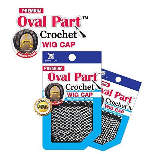 Shake N Go Freetress Premium Oval Part Crochet Wig Cap