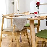 テーブルランナー ホーム リネン テーブルランナー 手作り ヨーロッパの亜麻から、  マシンウォッシャブルクラシック テーブルランナー  結婚式のため/ブライダルパーティー/Rustic Event、 4色 (Color : Beige, Size : 30*220cm)