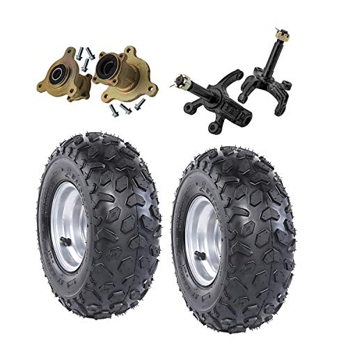 ZXTDR 2PCS Front 145/70-6 Tubeless Wheel Tires with 6