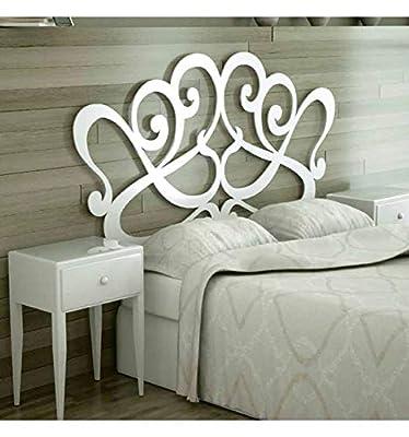 Cabeceros de forja para colchón de 135 cm en color blanco